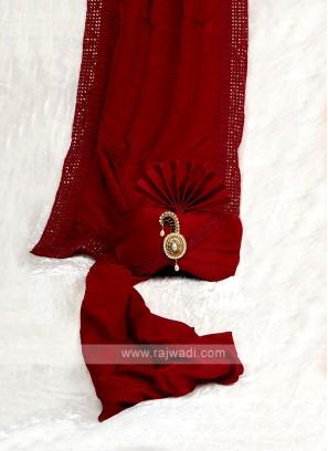 Chiffon Silk Wedding Safa With Matching Dupatta