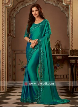 Chiffon Silk Wedding Wear Saree