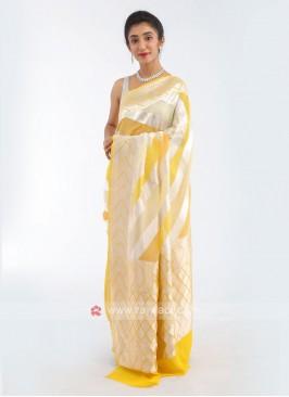 Chiffon Yellow Saree
