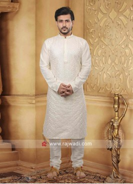 Marvelous White Kurta Pajama