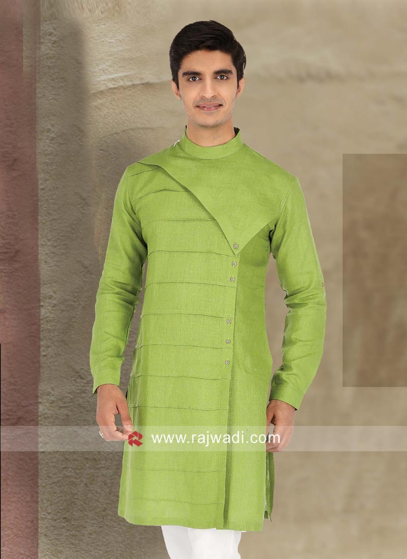 Parrot Green Color Kurta