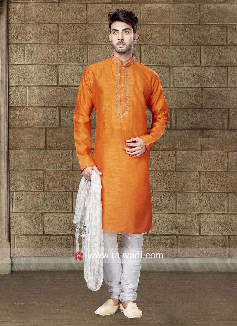 Charming Art Dupion Silk Kurta Pajama