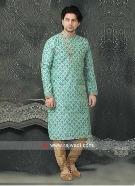 Beautiful Aqua Color Kurta Set