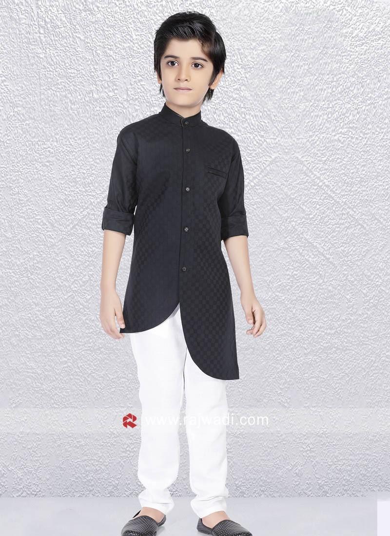 Kurta Pajama In Black Color