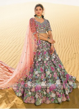 Flower work Choli Suit.