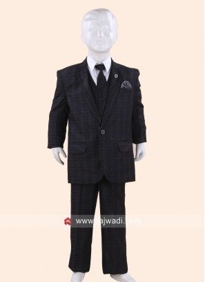 Classic Grey Color Suit For Kids