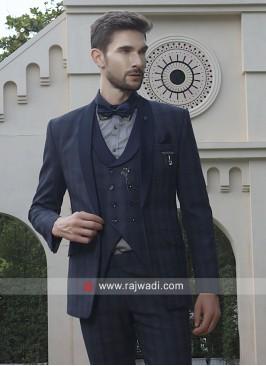 Classic Blue Color Suit