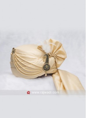Classic Cream Wedding Turban