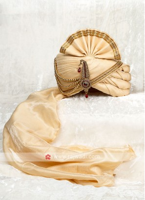 Classic Cream Wedding Turban