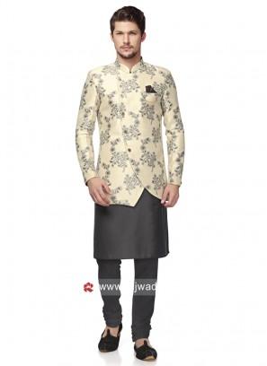 Classic Look Brocade Silk Indo Western