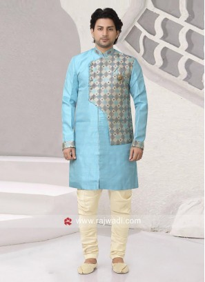 Art Silk Fabric Indo Western