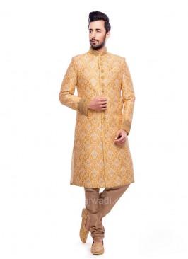 Classic Look Jacquard Fabric Sherwani