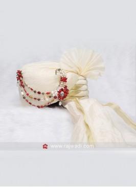 Classic Off-White Wedding Turban