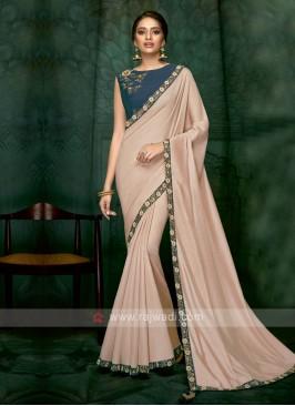 classic peach color art silk