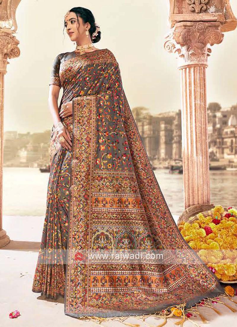 Classic Saree In Beige Color