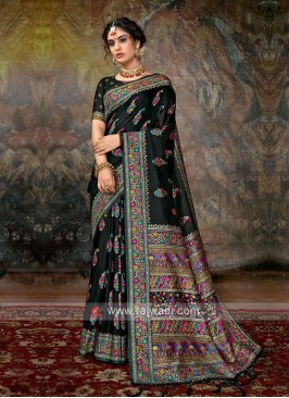 Classic Saree In Black Color