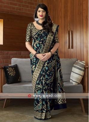 Classy Black Banarasi Silk Saree