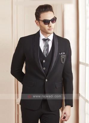 classy black color suit