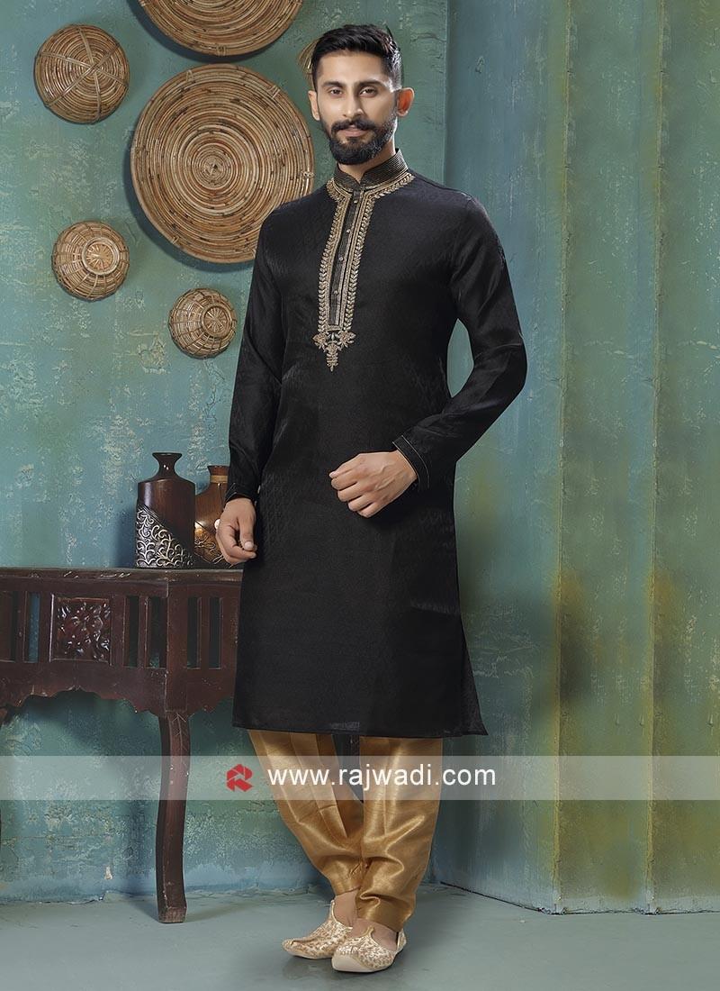Classy Black Kurta Pajama