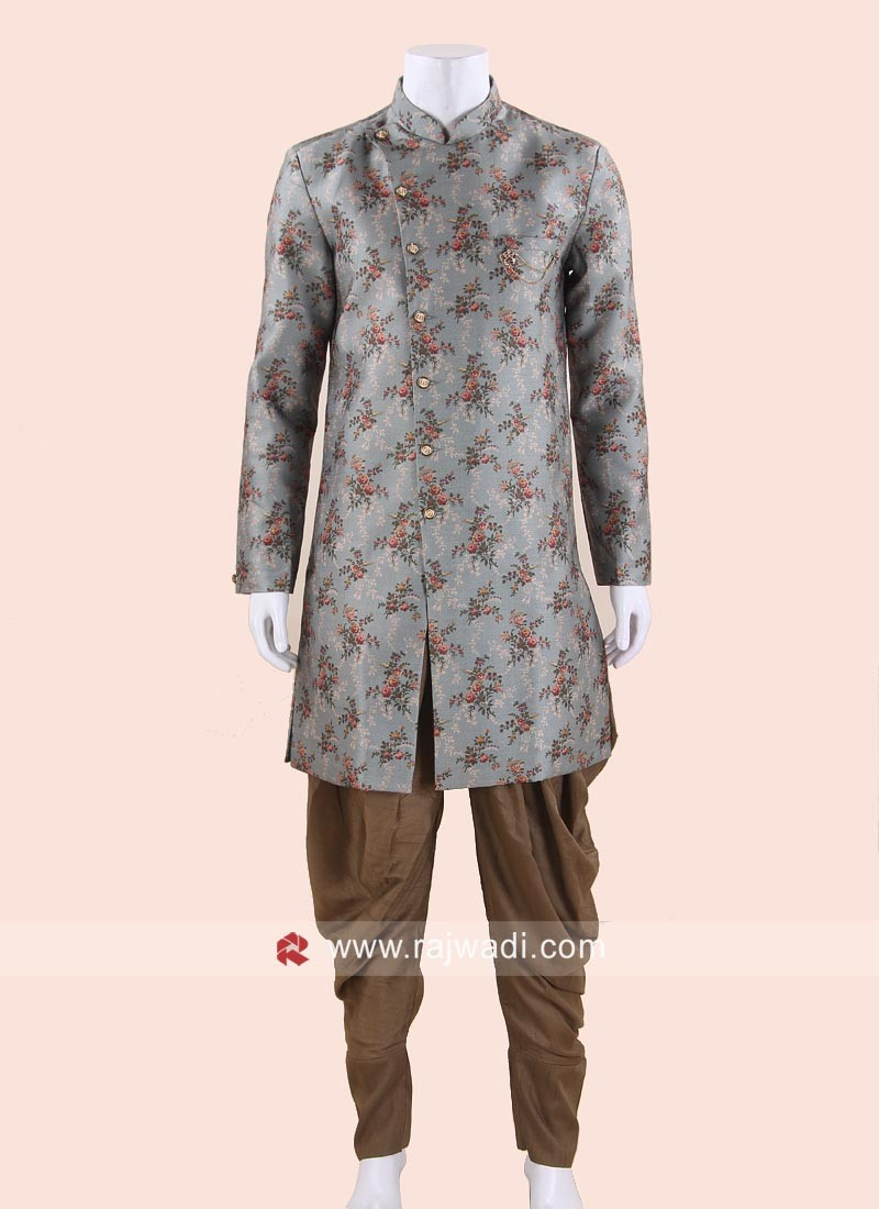 Classy Brocade Silk Fabric Indo Western