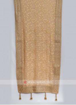 Classy Dark  Beige Color Chiffon Dupatta