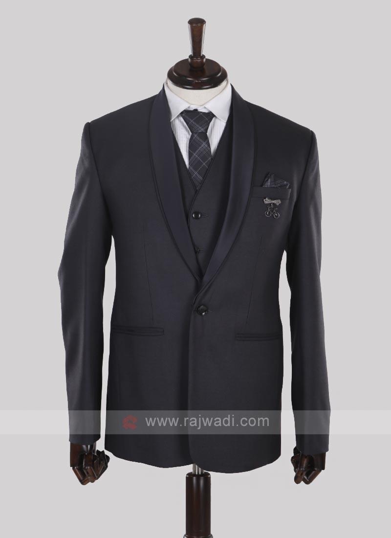 classy dark grey imported fabric suit