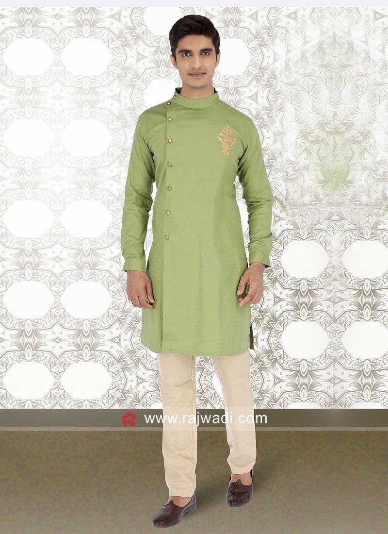 Classy Parrot Green kurta Pajama