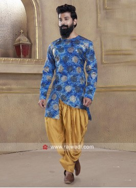 Attractive Round Neck Patiala Suit