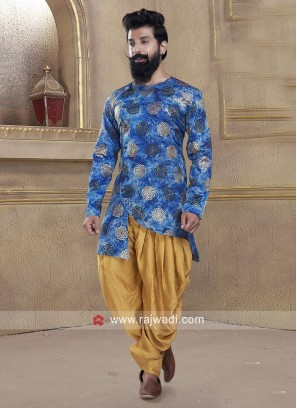 Attractive Round Neck Patiala Suit