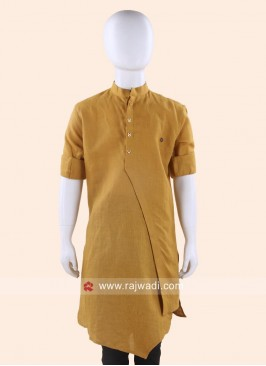 Round Neck Mustard Yellow Kurta