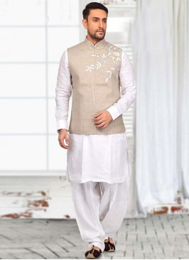Close Neck Koti with Kurta and Bottom