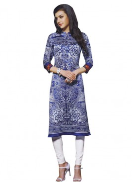 Close Neck Printed Kurti