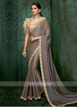 coffee color art silk saree