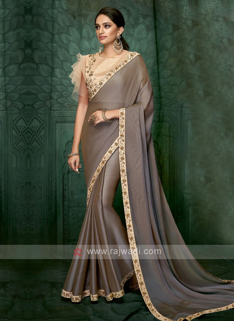 coffee color art silk saree