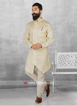 Light Yellow Color Pathani Suit