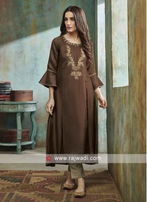 Coffee Color Salwar Suit