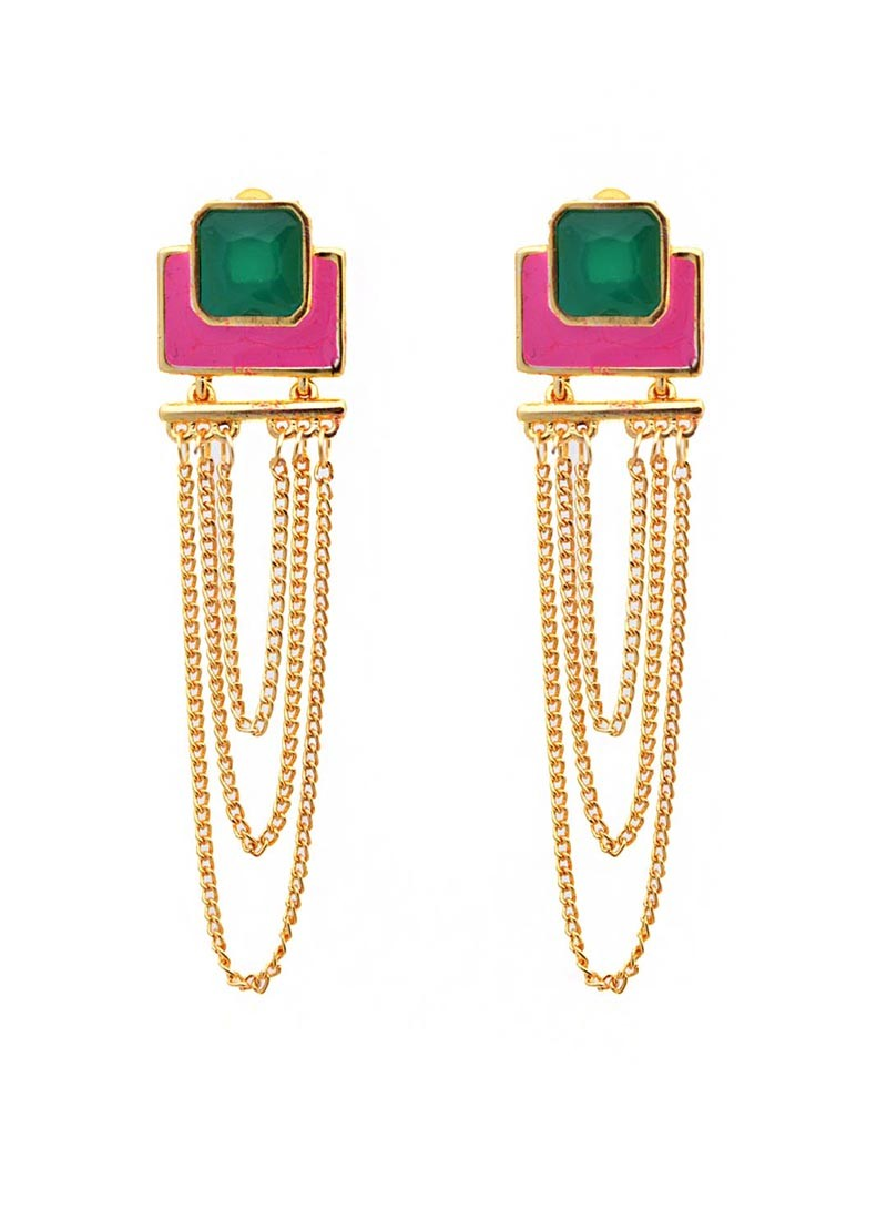 Color Rush Multilayered Dangler Earrings