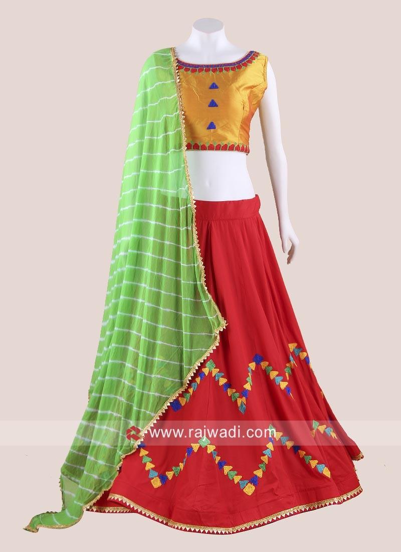 Colourful Thread Work Chaniya Choli
