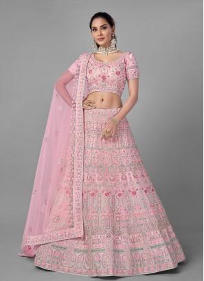 Compelling Pink Lehenga Choli