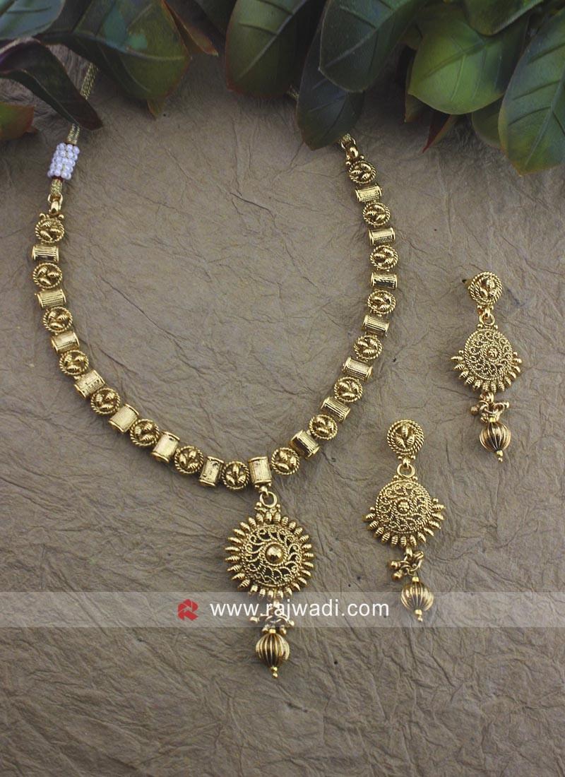 Copper Golden Necklace Set