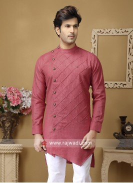 Coral Color Kurta For mens