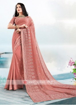 Beautiful Lucknowi Work Saree