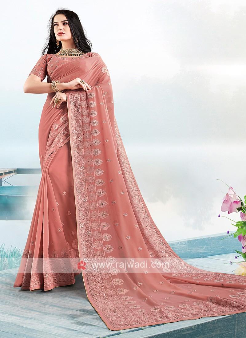 Beautiful Lucknowi Work Saree