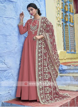 Coral Lucknowi Worked Anarkali Suits