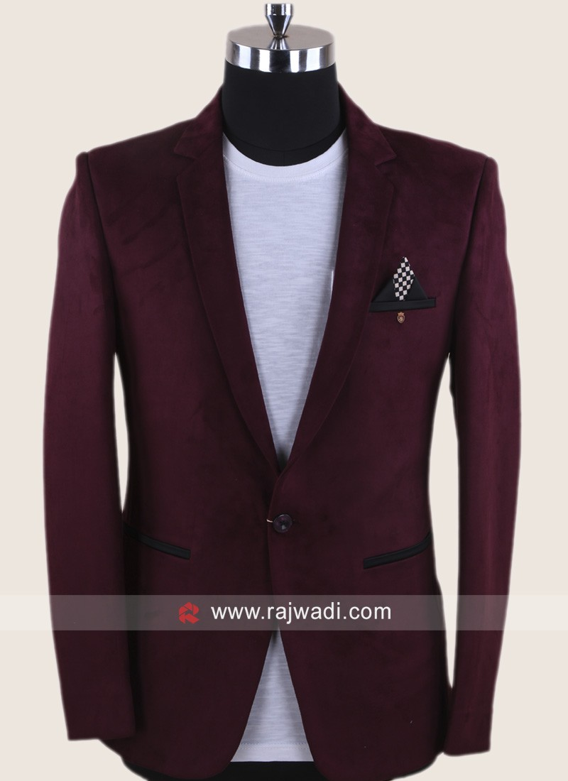 Corduroy Blazer In Wine