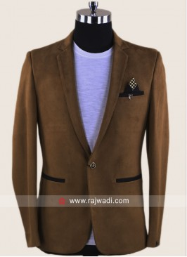 Corduroy Fabric Goldenrod Blazer