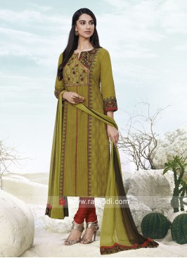 Cotton Casual Churidar Suit