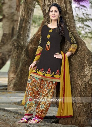 Cotton Colorful Patiala Suit
