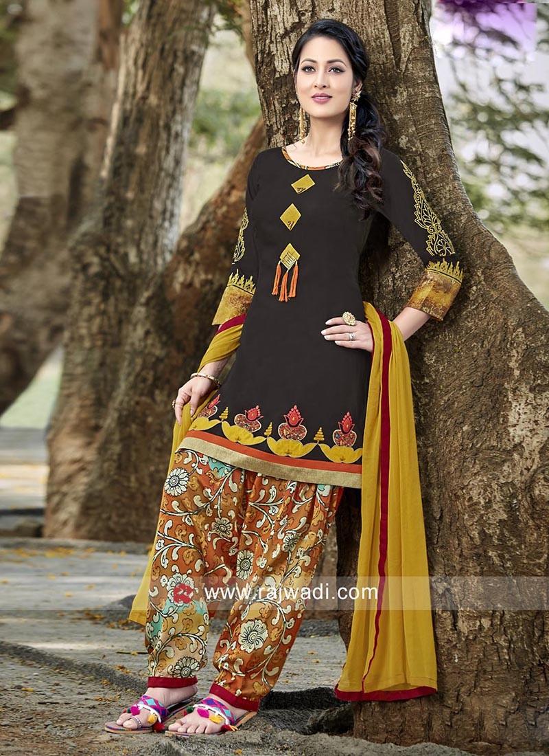 Cotton Colorful Patiala Suit