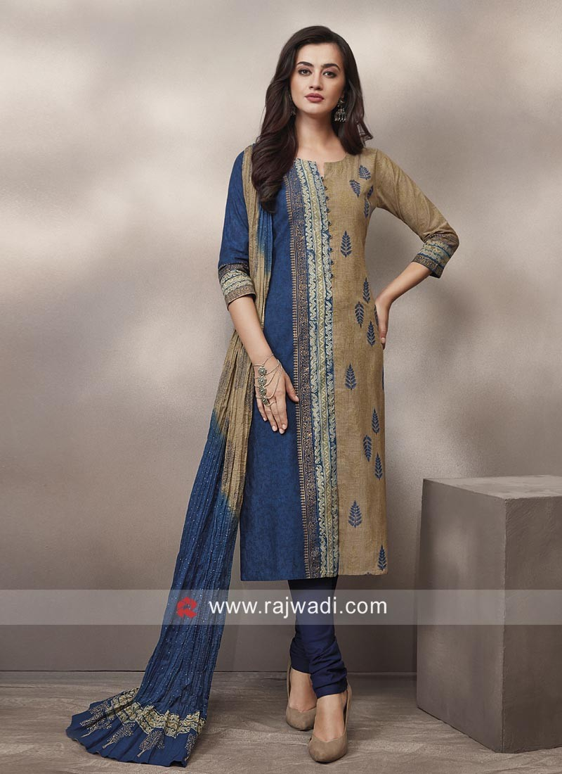Cotton Designer Churidar Suit